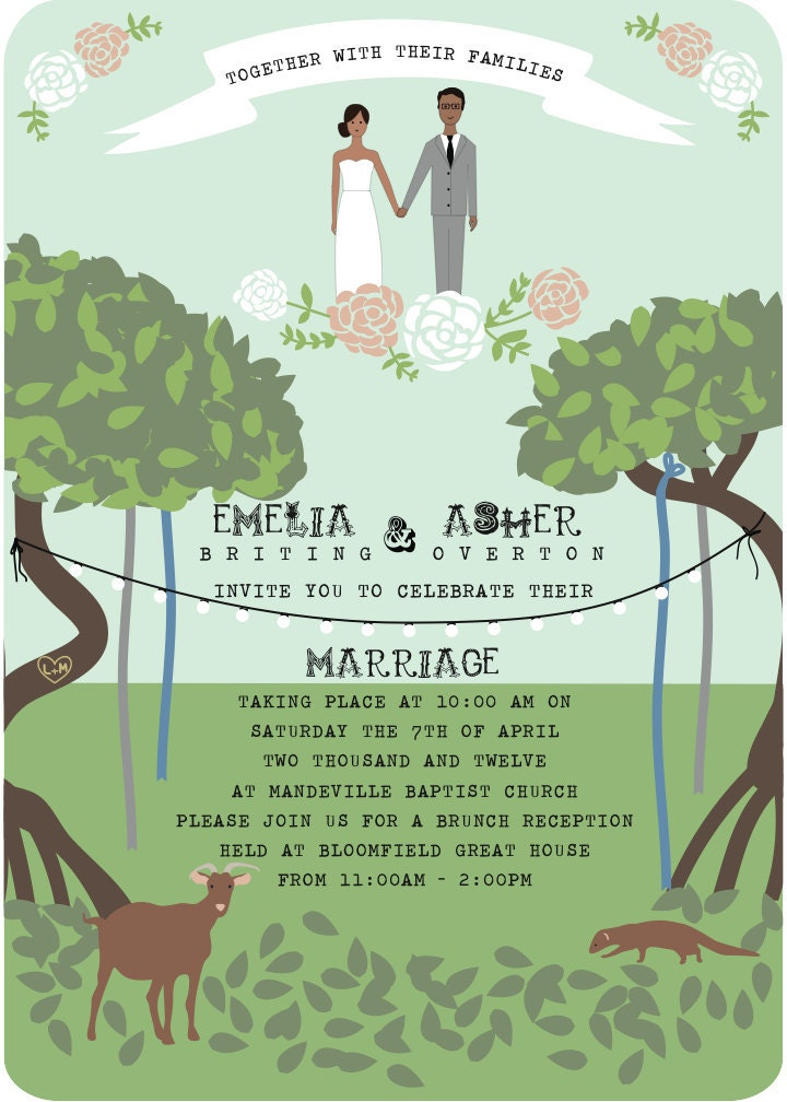 Outdoor Wedding Invitation From SleepyDreamer