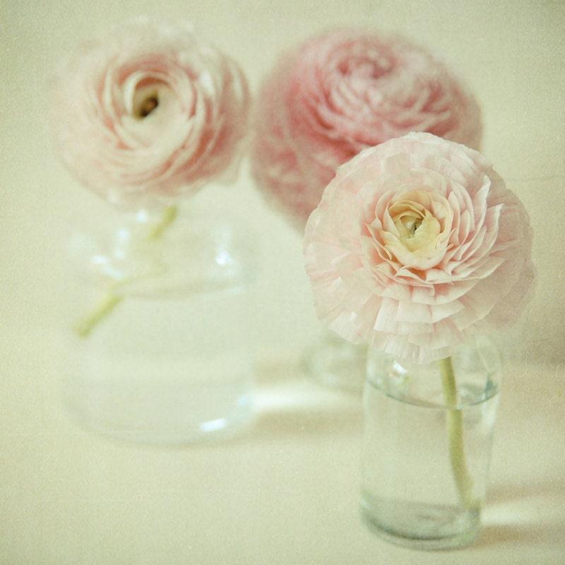 Dreamy pastel pink flower photography . modern home decor . simple zen art . cottage chic home decor . nursery art . Reverie - joystclaire