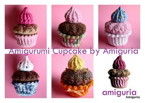 AMIGURUMI CUPCAKE by Amiguria - PDF of crochet pattern - Etsywishlist