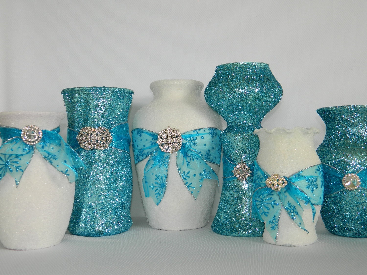 Wedding Decorations, Wedding Centerpiece, Winter Wedding, Tiffany Blue Wedding, Aqua, Christmas Wedding, Xmas Wedding Decorations, White