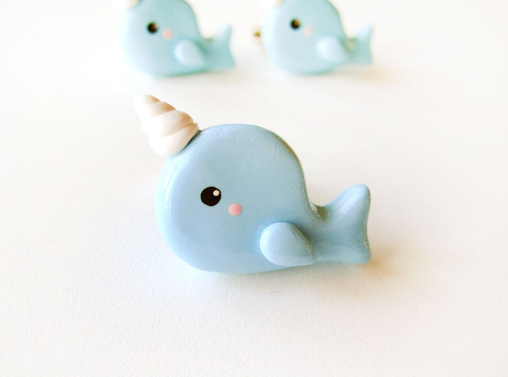 Baby Blue Narwhal Ring - Ready to Ship - MadAristocrat