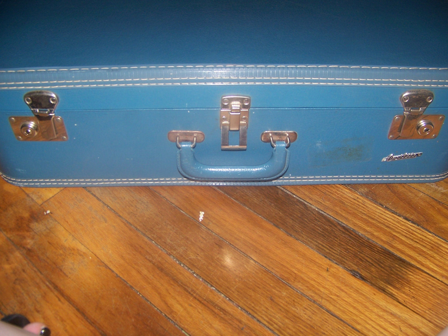 Vintage Carrilite Blue Suitcase