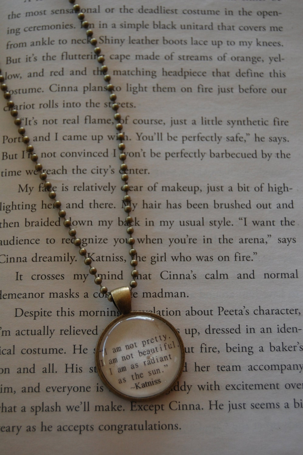 Katniss- The Hunger Games Inspired Necklace - FREE SHIPPING