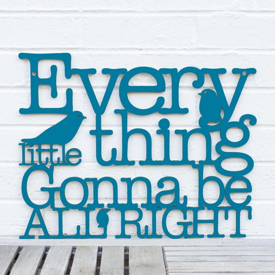 Every Little Thing Gonna Be All Right LARGE (Bob Marley, Reggae) - spunkyfluff