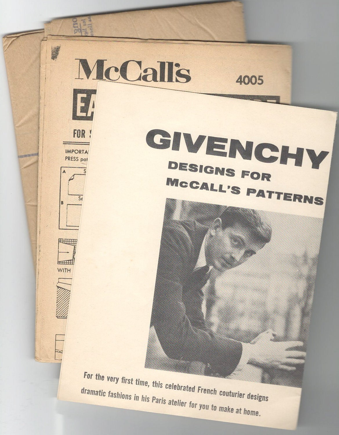 Givenchy pattern insert McCall's 1957