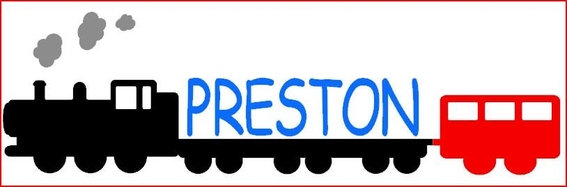 Train wall decor for boys room etc Boys name by AliCatAlley