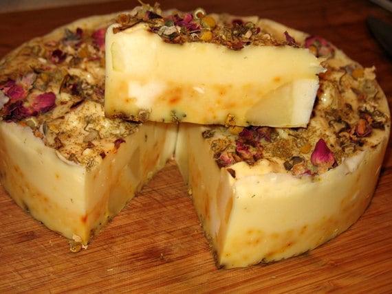 Organic Soap Orange and Clove Soap Cake Slices
