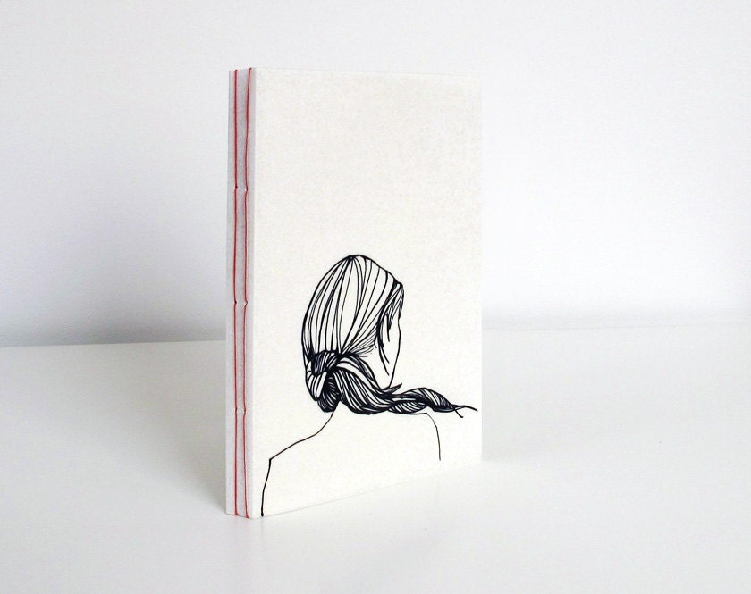 Ponytail girl - bound notebook - A6 - 10antemeridiem