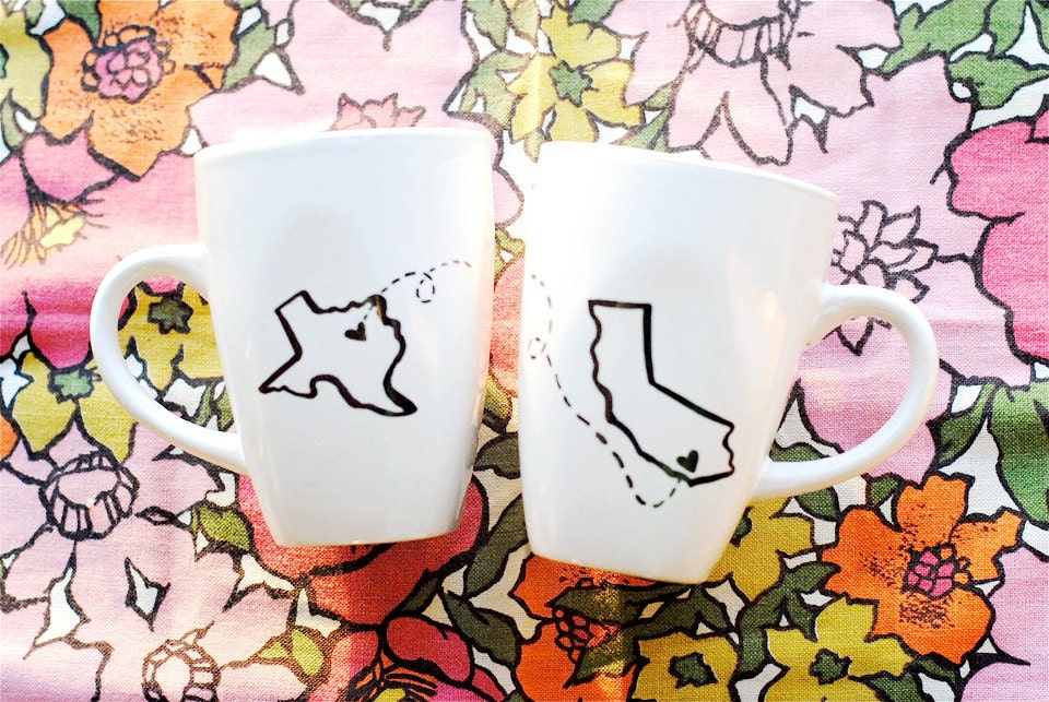 State or Country Heart Mugs-Going Away Present, Going Away Gift, Moving Away, Long Distance Relationship, Adoption- Customize