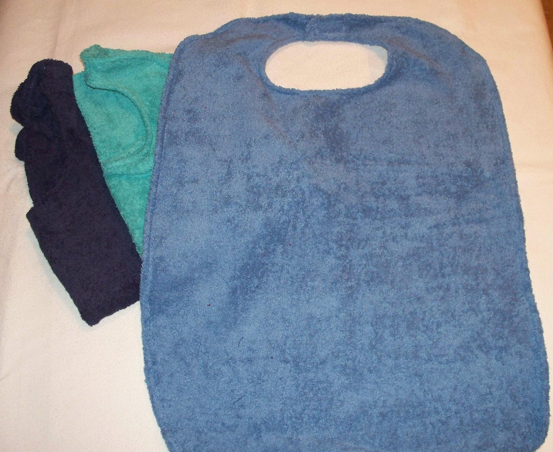 Adult Clothing Protector, One Adult Bib. From BobbinAround4U