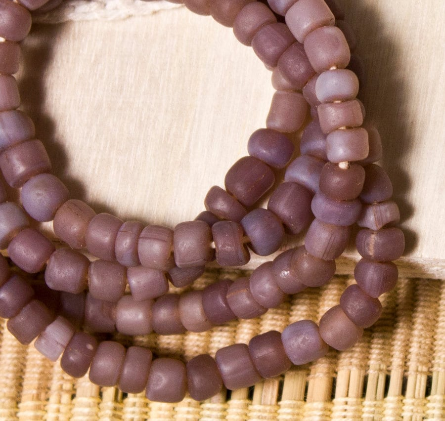 Indonesian Glass Beads - Lavender (15 pieces)