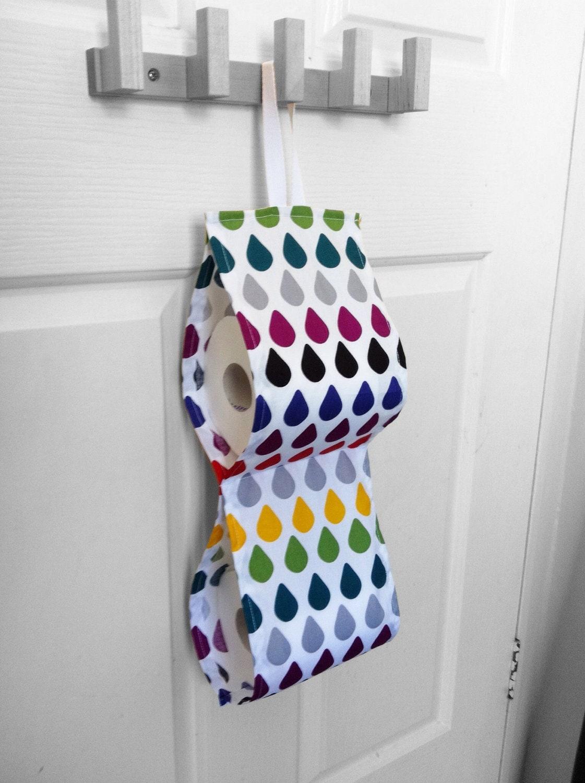 Rainbow Raindrops Toilet Roll Holder