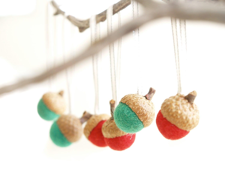 acorn tree ornaments by Fairyfolk on etsy
