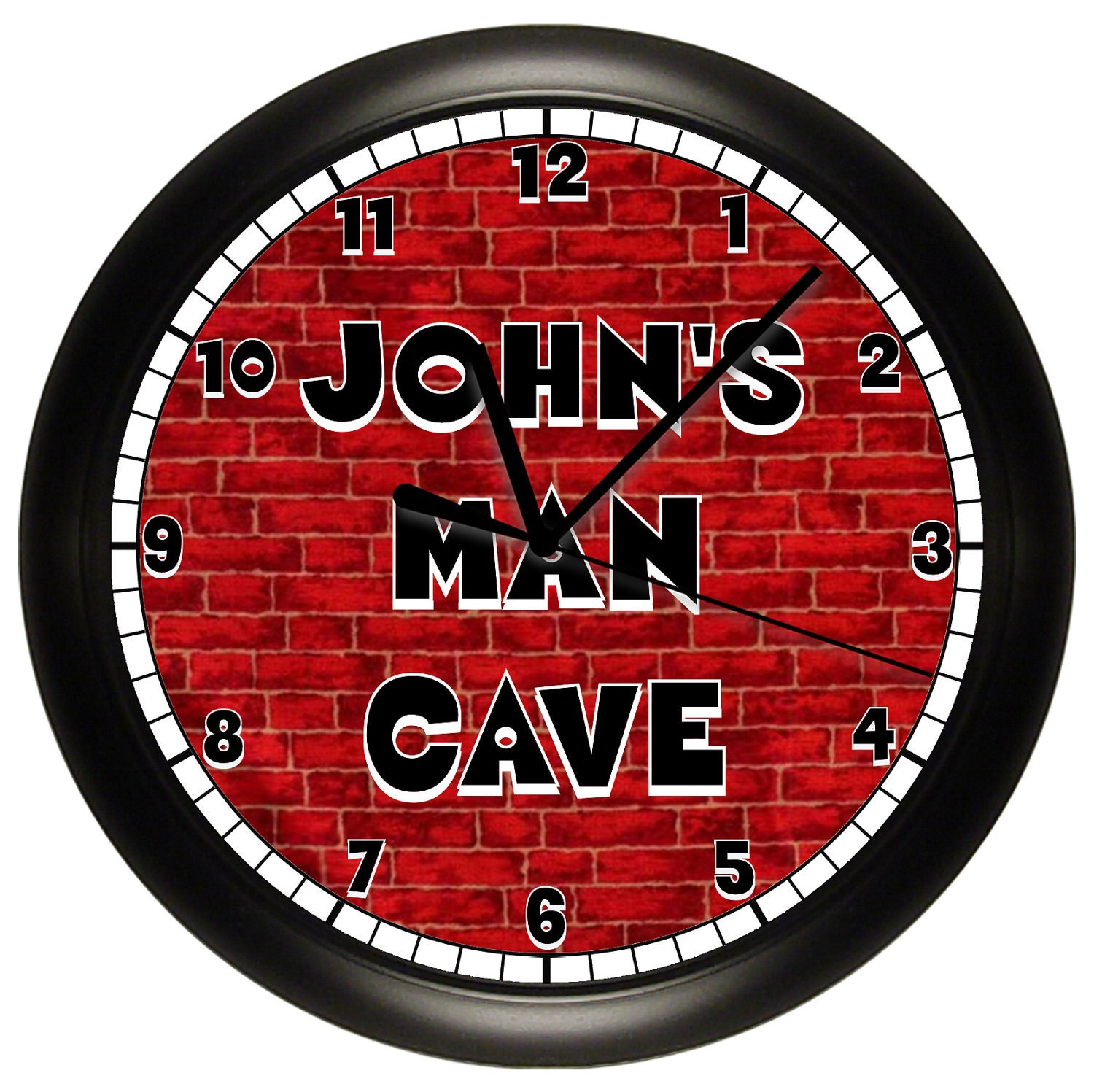 Man Cave Clock : Personalized man cave wall clock game or rec room by