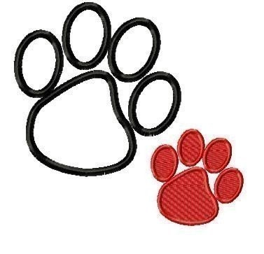 Free Embroidery Fonts - 8 Claws And A Paw Embroidery