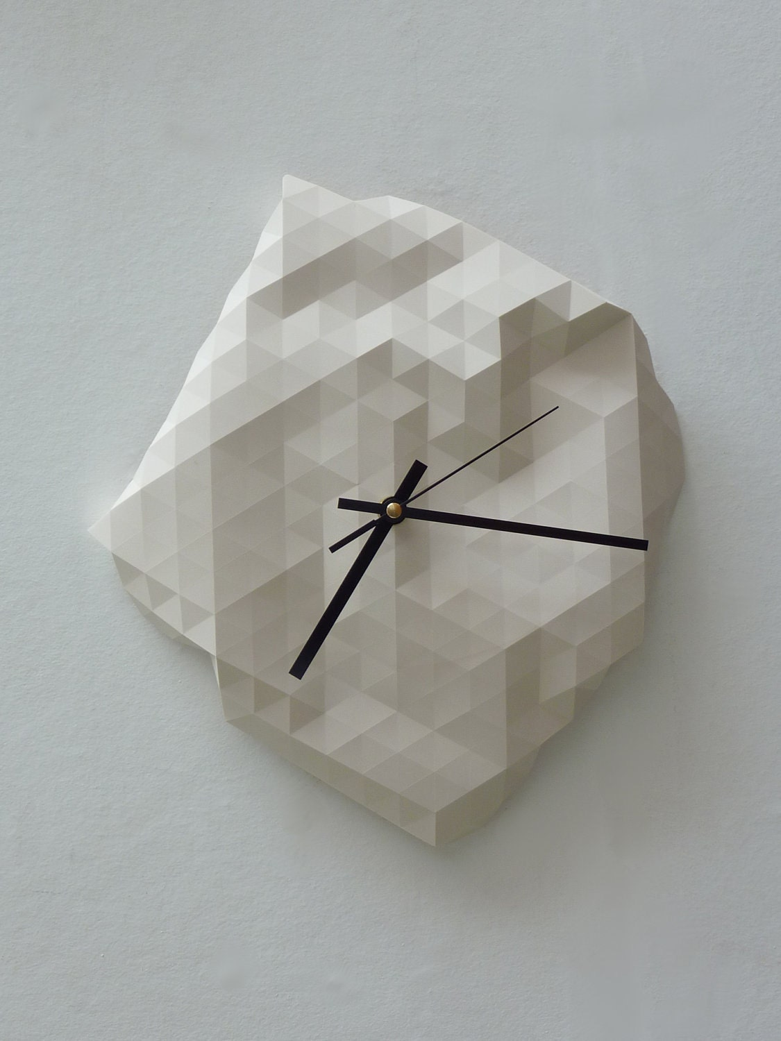 Faceted Wall Clock