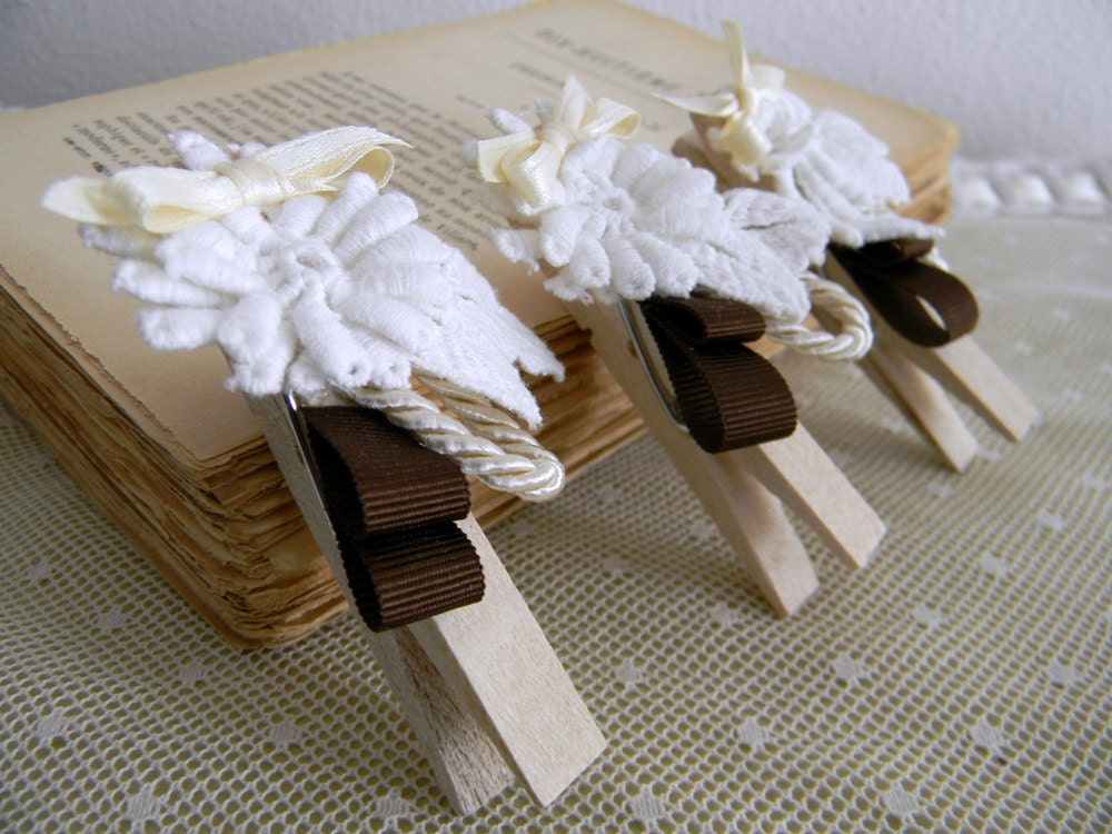 Set of 6 Rustic Chic Wedding Decoration Rustic chic wedding favors