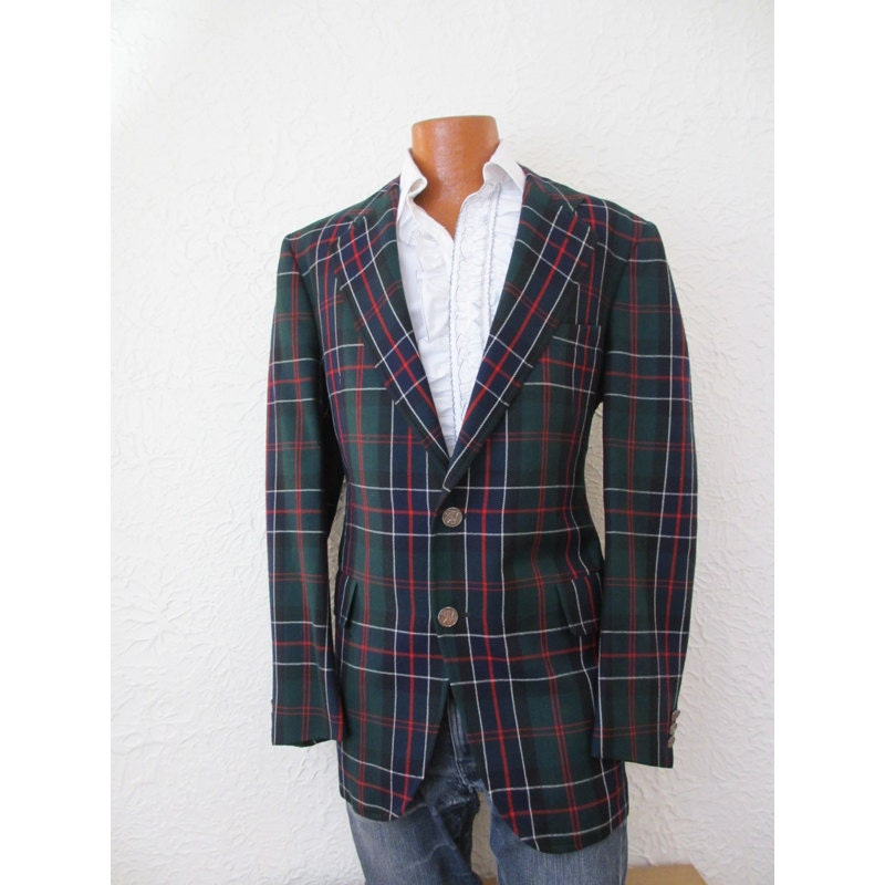 Vintage Men's Tartan Plaid Sportcoat Jacket 44 long
