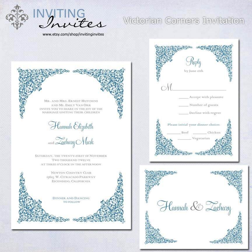 victorian wedding invitation wording