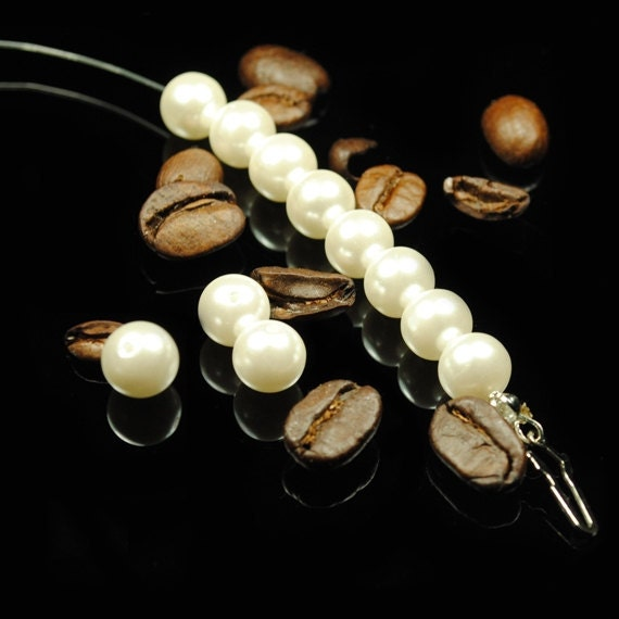 Luxury White Pearls spacers findings charms Loose Beads 6mm ( Brand NEW & High Quality )
