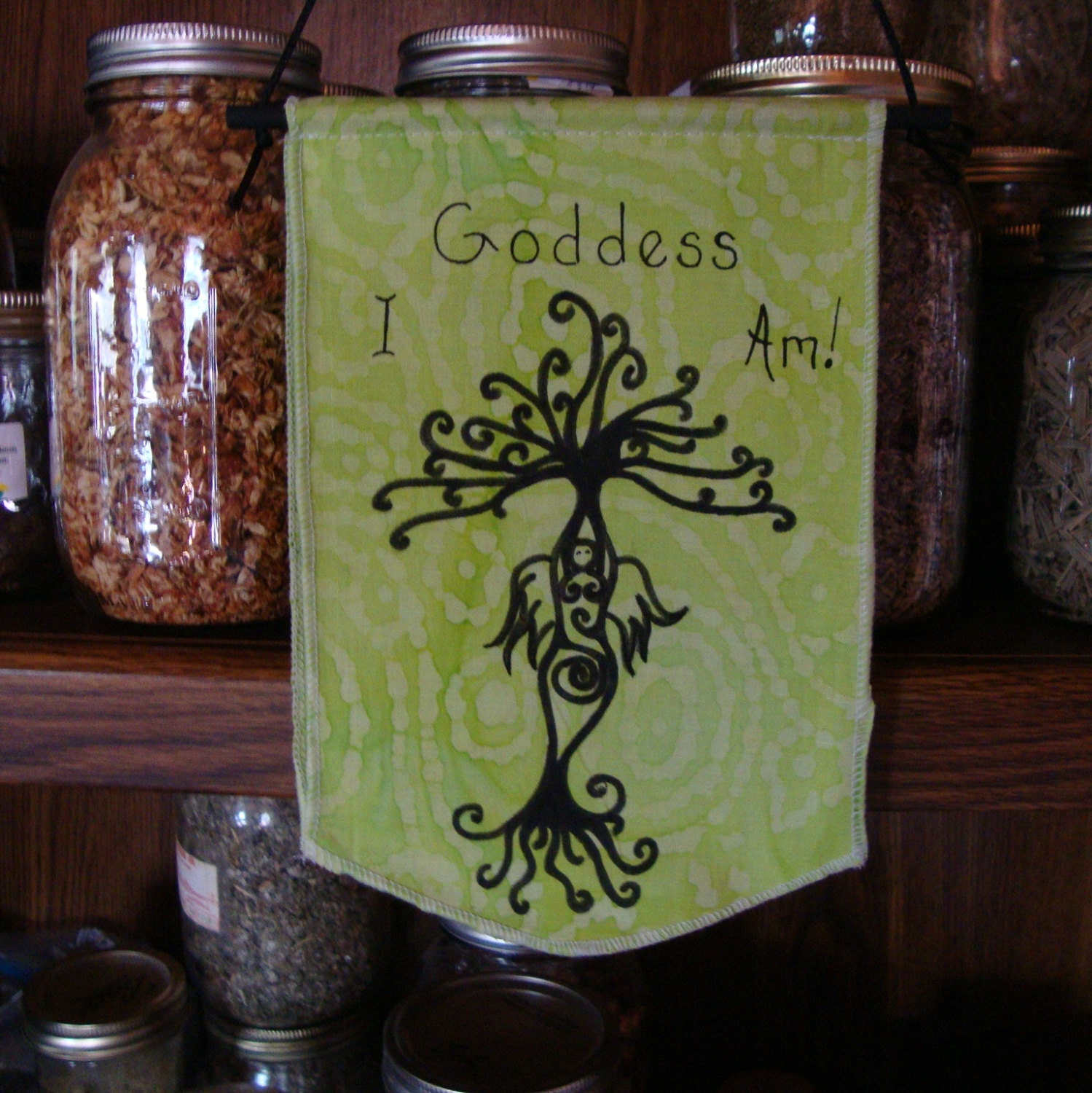 Goddes I Am / Wall Hanging / Home Decor / by lavendermoonoasis