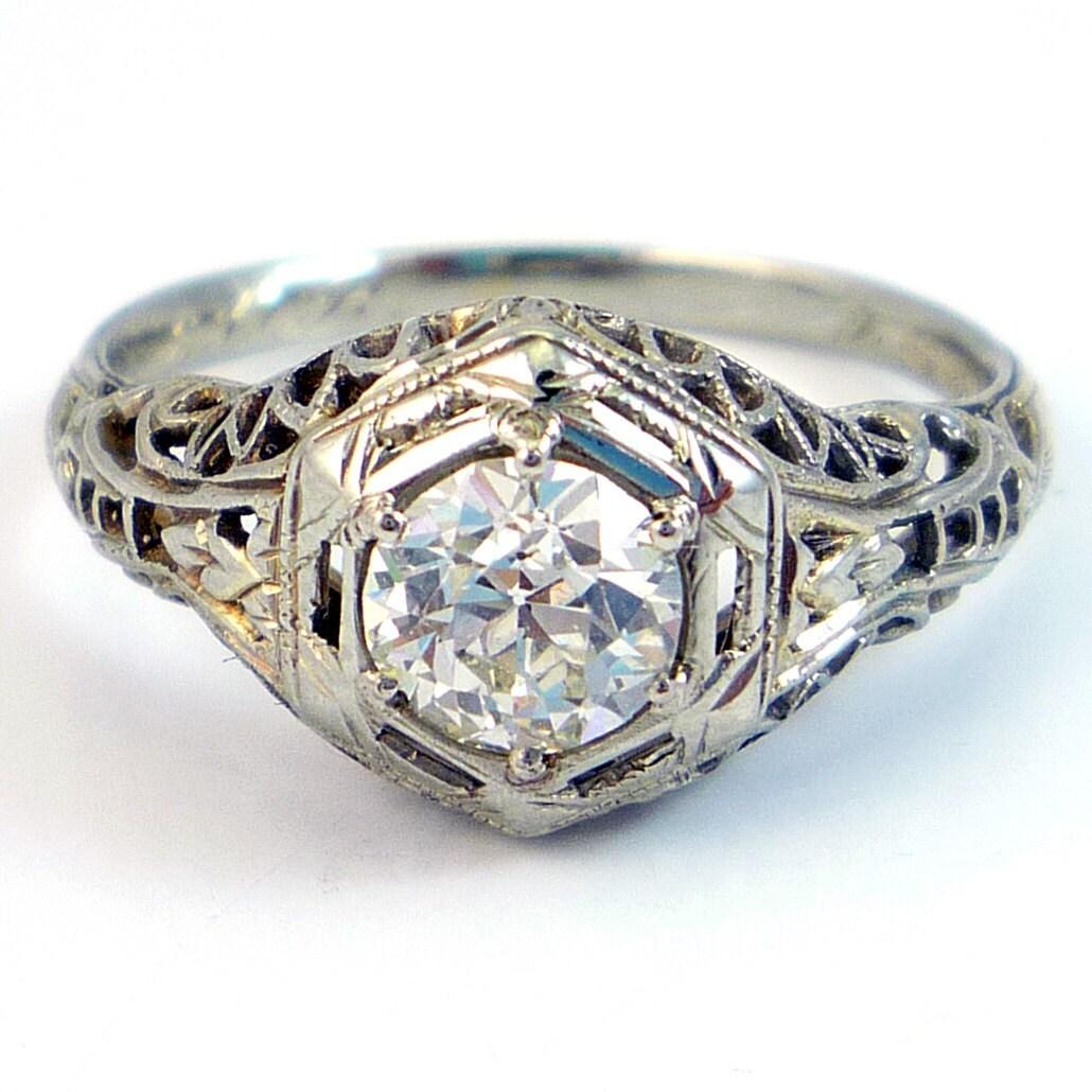 Antique Filigree Engagement Rings