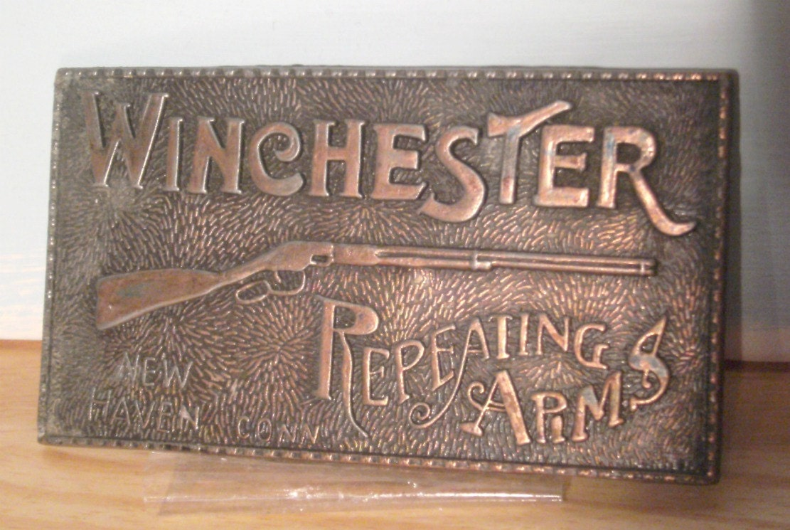 Lot #3- 38 Vintage Belt Buckles - Smith  Wesson, Winchester