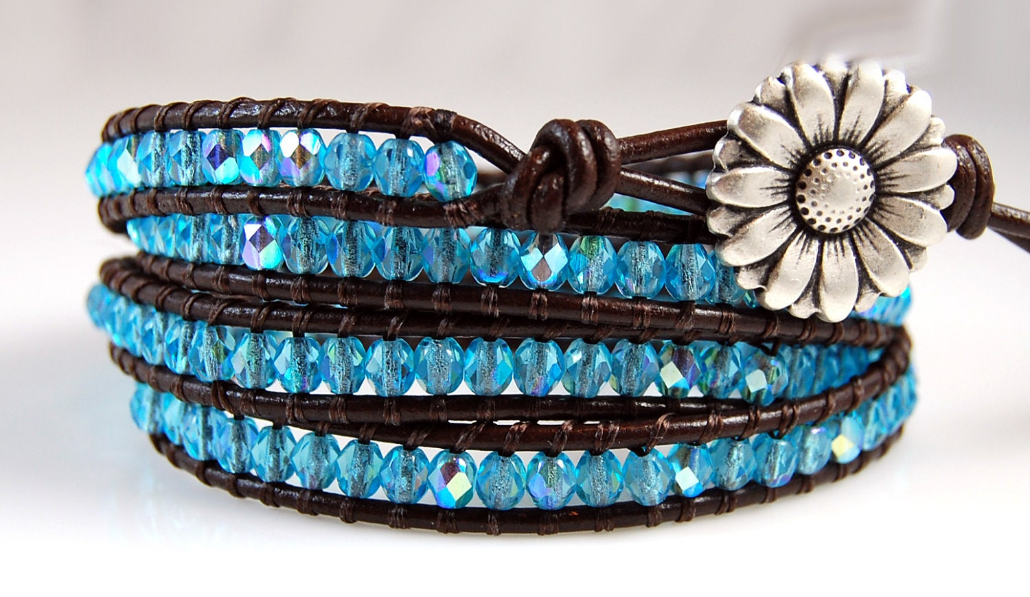Custom Chan Luu Style Leather Wrap Bracelet - Custom Order - whitneysdesigns