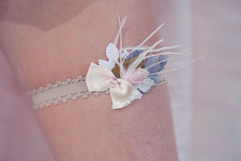 Raeshae Bridal Garter Set pink garter belt blue garter toss garter