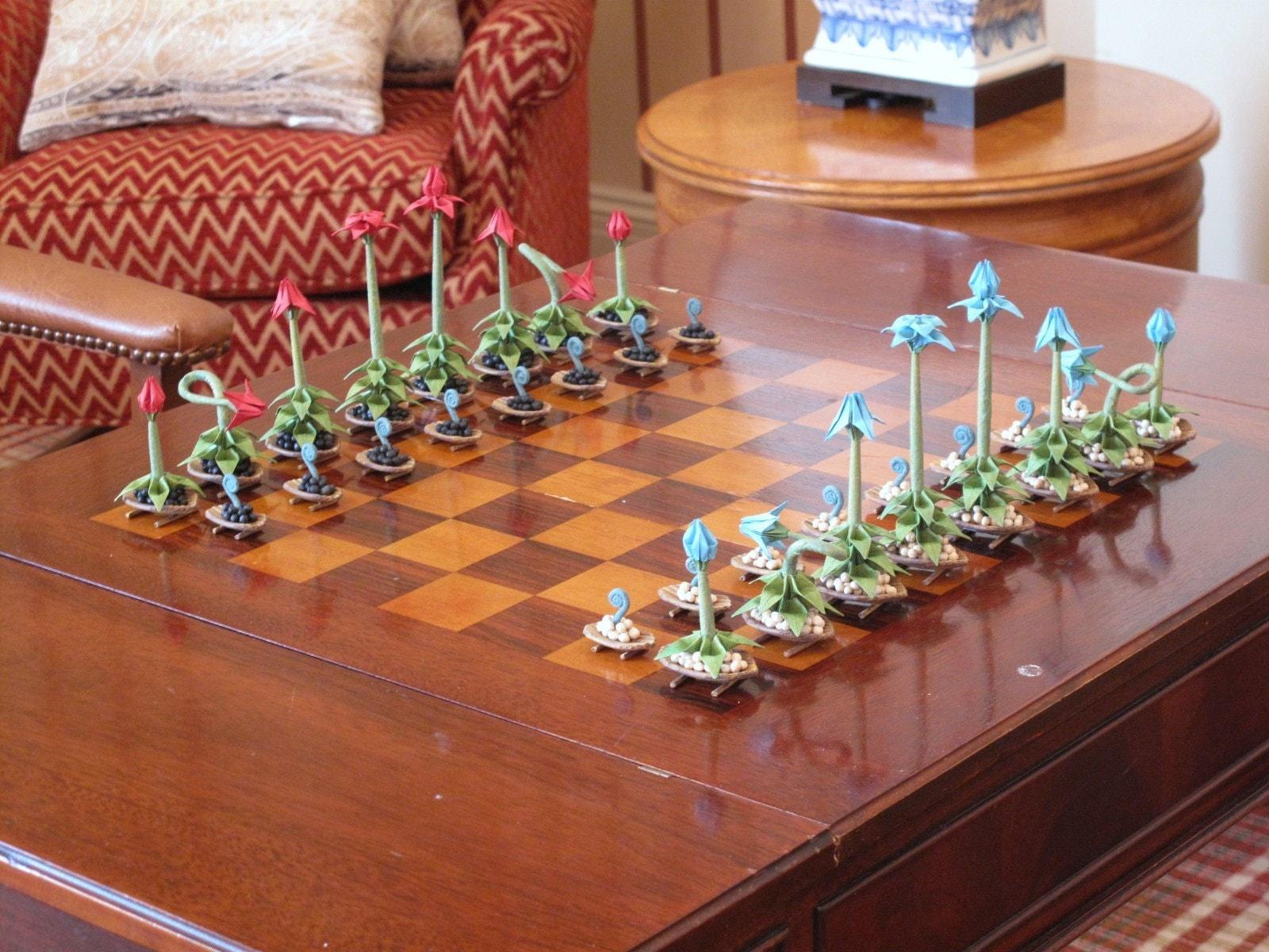 Origami Bonsai Chess Set IV