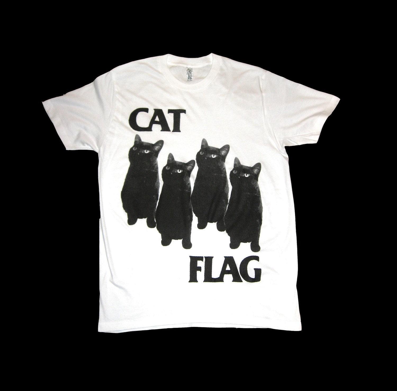 Black Flag CAT FLAG T Shirt Size LARGE