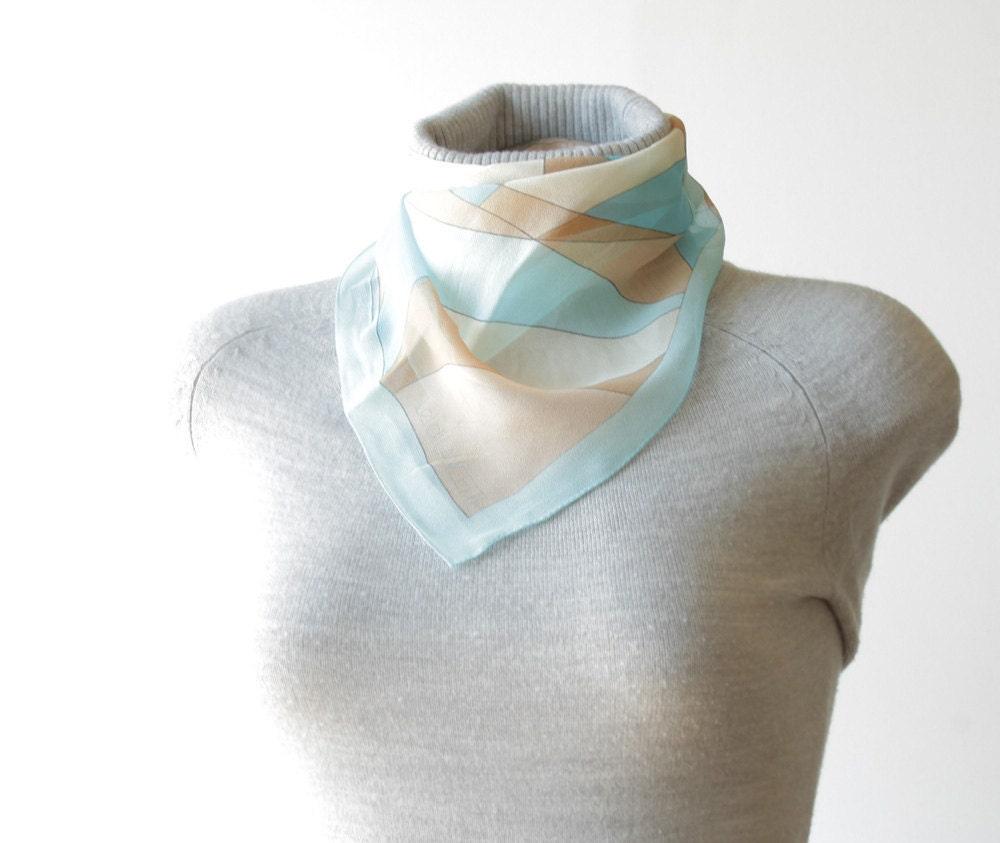 Vintage Silk Scarf by Leidi Lancetti - Geometric - 57