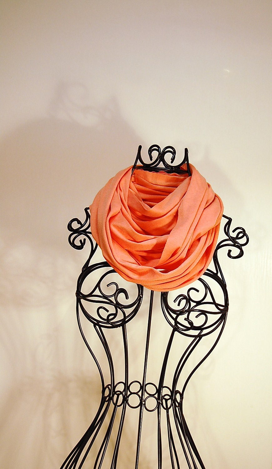 Melon, Tangerine, Mandarin Orange JERSEY INFINITY Scarf by T.A.N - TheAccesoriesNook