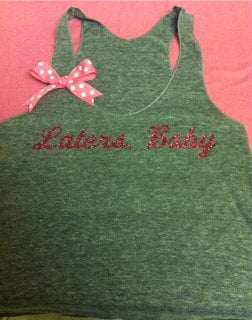 Fifty Shades of Grey Inspired Gray Laters, Baby Racerback Tank