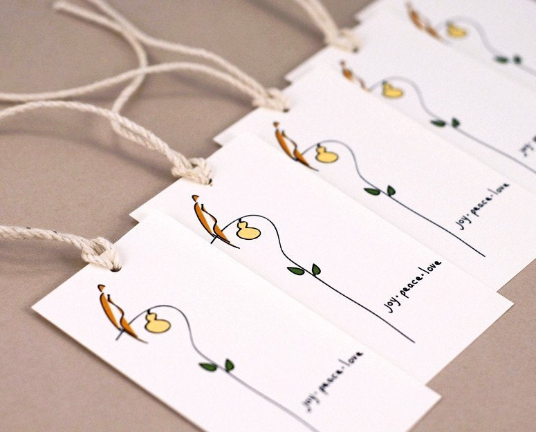 Partridge Gift Tags - Set of 5