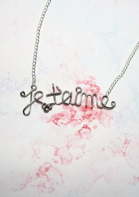 Je T'Aime Romantic French Necklace - i love you