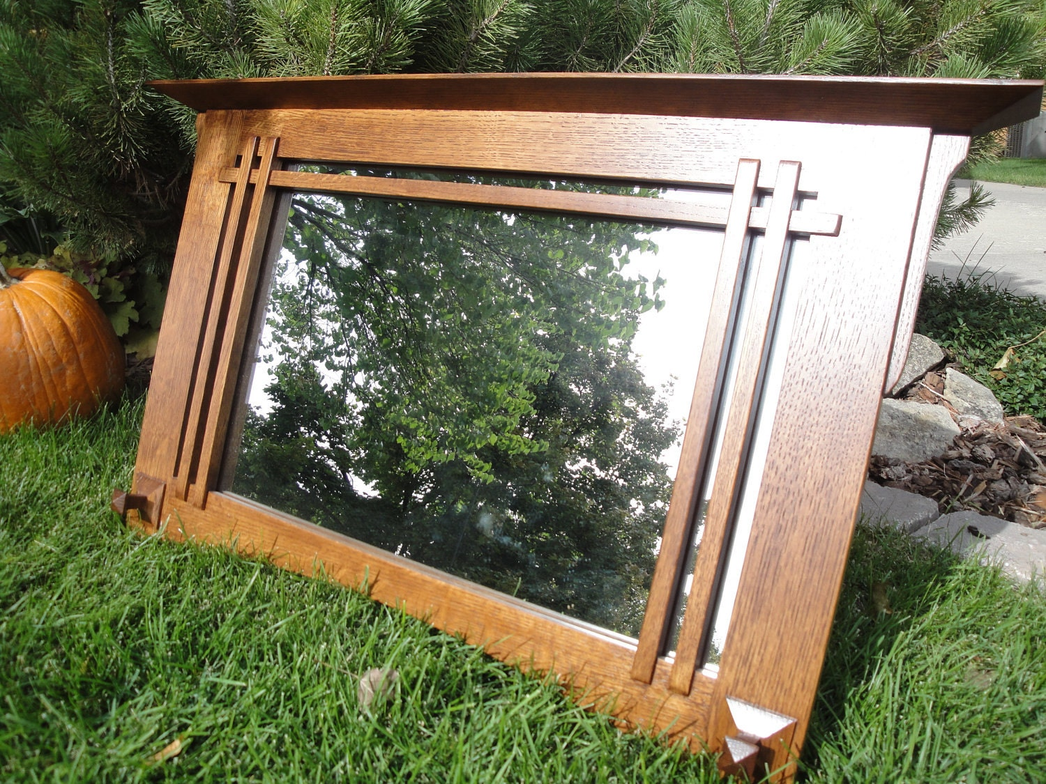 Mirror Mission-Style Handcrafted Wood