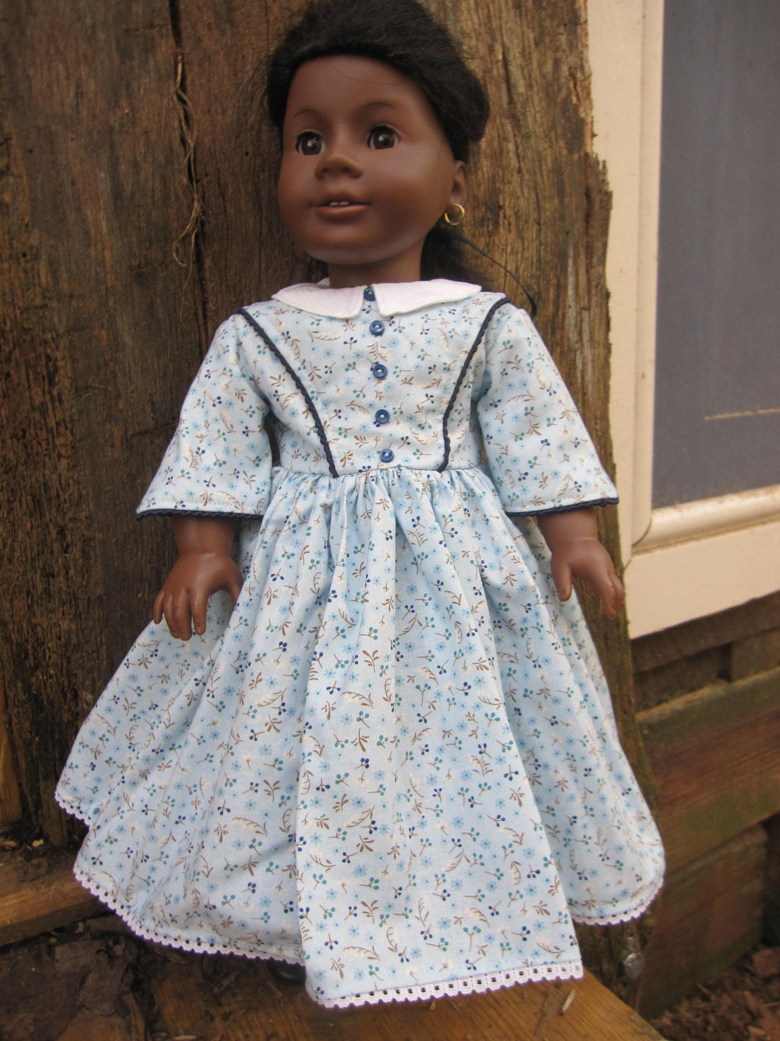 Historical Dress for Addy or Marie-Grace-fit 18 Inch American Girl Doll