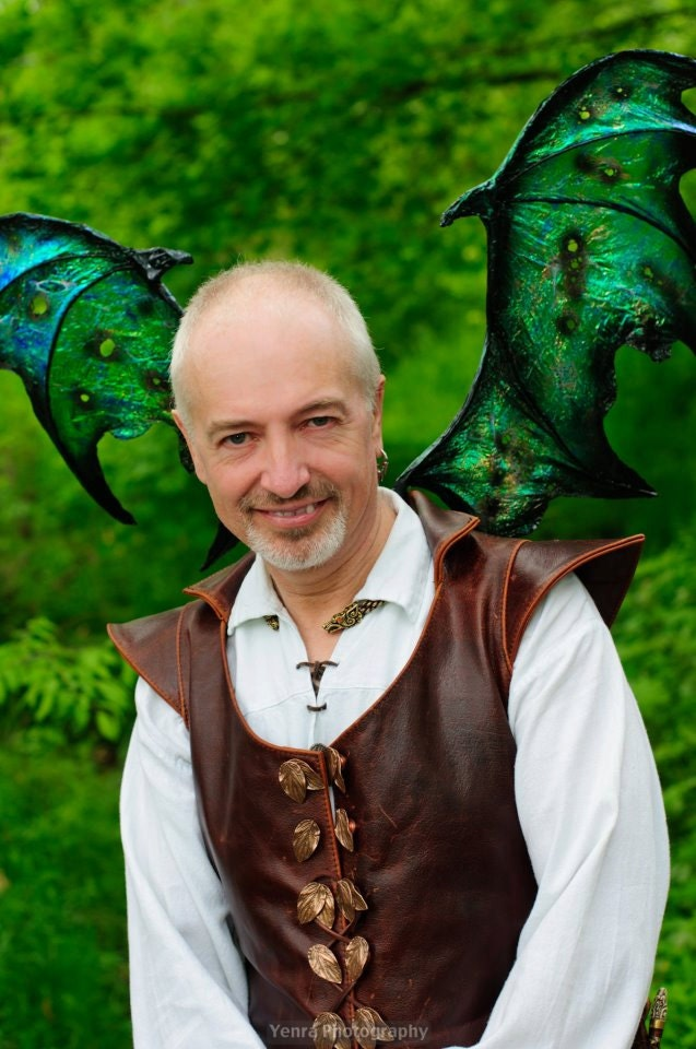 OOAK Custom Iridescent Draco Dragon Fairy Wings Cosplay Renaissance U Pick Any Color