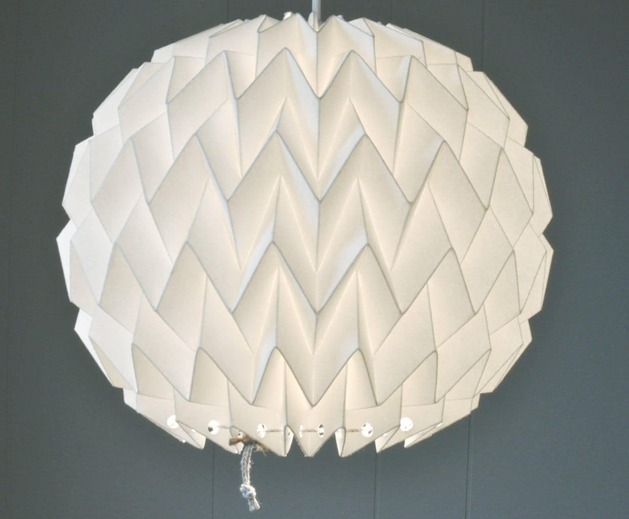 BUBBLE Origami Paper Lamp Shade WHITE FiberStore By FiberStore