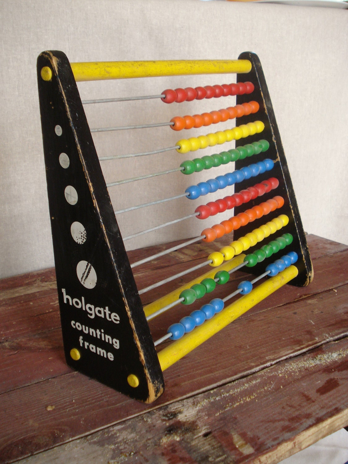 Rustic Abacus Toy, Mid Century Childrens Abacus Toy - RedSandVintage