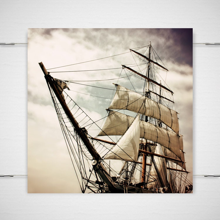 Peter Pan Pirate Ship Photography 5x5 photograph print Fantasy fairy tale nursery children's room sinister Gothic 'Pirates' Life For Me' - jpgphotography