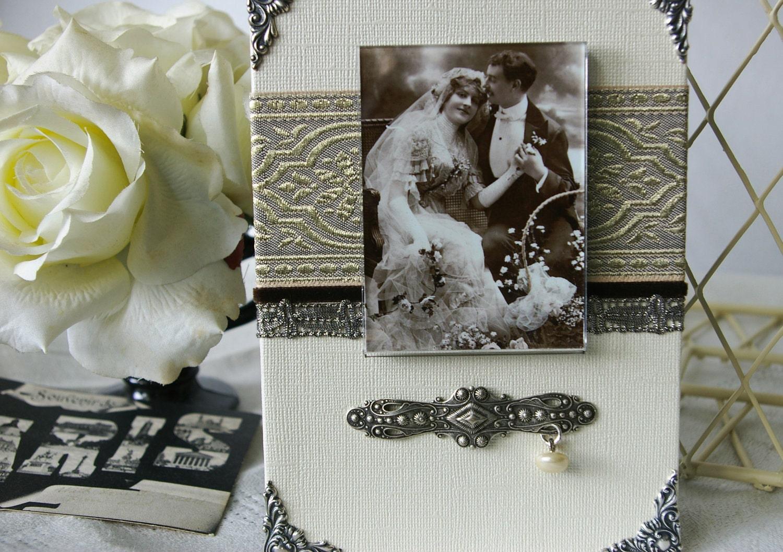 Picture Frame, искусно украшенные фоторамки, винтажные ленты, сливки и платина серебро