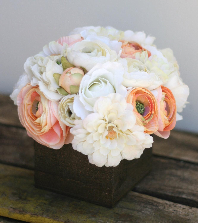 Custom Сельский Розы Лесной Ranunculus вы выбираете цветы Barn Дерево Вазы Стиль Planter с Centerpiece меры