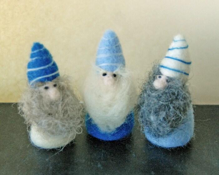 Needle Felted Gnomes, Waldorf Gnomes, Dwarves - gingerlittle