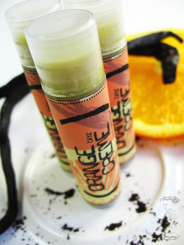 Organic  Lip Balm - Orange Creme - Handmade with Organic Vanilla - New recipe for 2012
