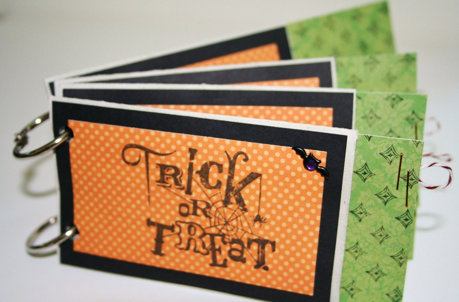 Halloween TP Roll Premade Mini Scrap Album Upcycled and Recycled