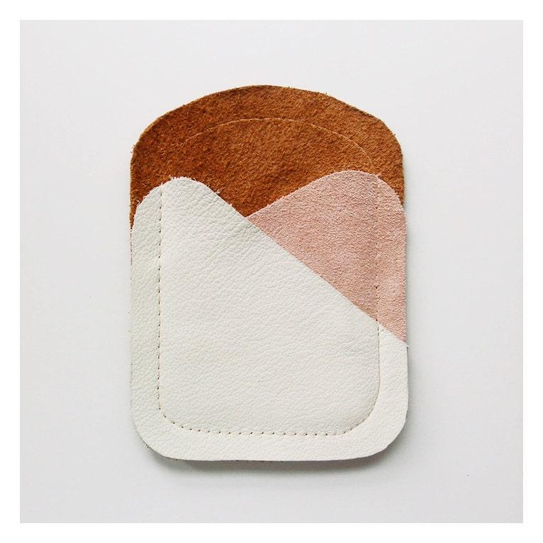 CARDHOLDER 01 / beige pink brown