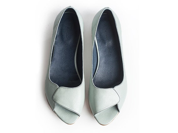 40% off Aya light blue peep toes - TamarShalem