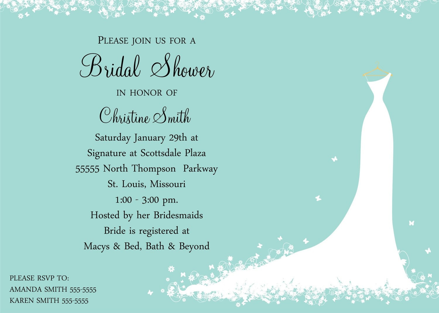 Wedding Shower Gift Card Verses : Bridal Shower Invitations: Bridal Shower Invitations Gift Card
